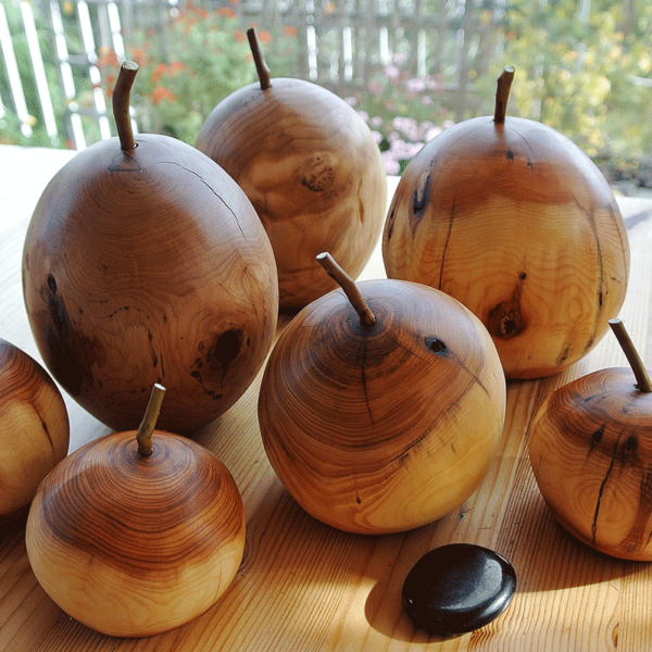 Yew Wood Apples