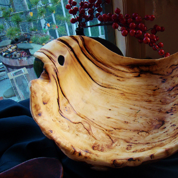 Very Old Yellow Cedar Fish Bowl