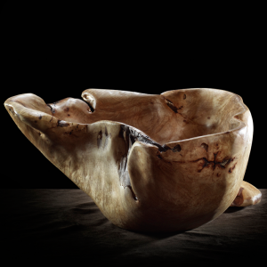 Birds Eye Maple Bowl with Foot