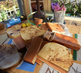 Yellow cedar charcuterie boards