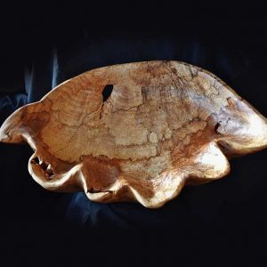 Spalted Maple Shell Bowl