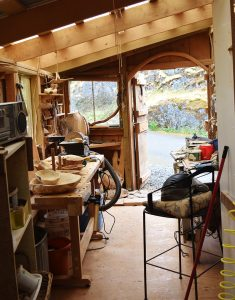 A Peek Behind the Carving Shed Door